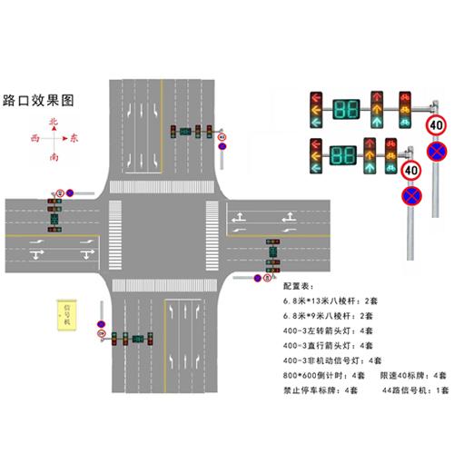 路口效果图