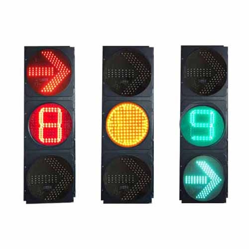 右转箭头单8倒计时信号灯