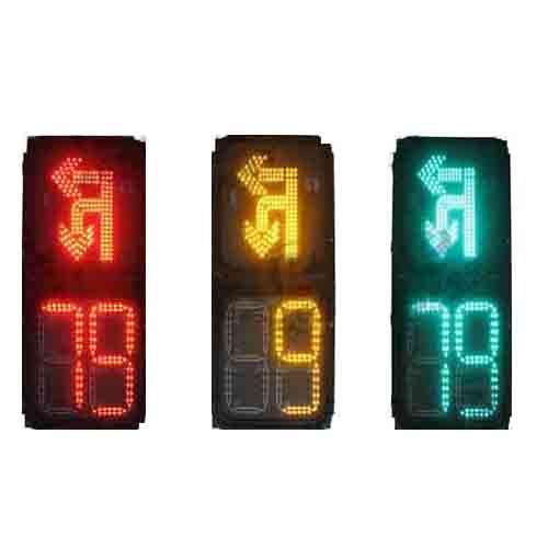 套色左转调头倒计时信号灯